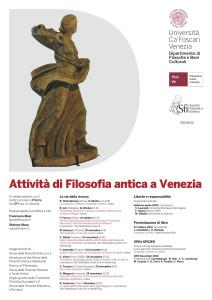 Attività di Filosofia antica a Venezia 2021-22